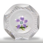 Perthshire Paperweights 1973 clematis faceted miniature paperweight.