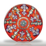 Perthshire Paperweights 1990 faceted millefiori paperweight.