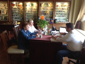 Evelyn and Rae doing curriculum development with L.H. Selman owner Mitch Clark