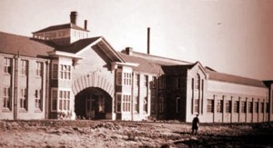 Photo of the new 1923 Whitefriars glassworks built in Wealdstone
