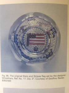Whitefriars limited edition bicentennial U.S. Flag paperweight