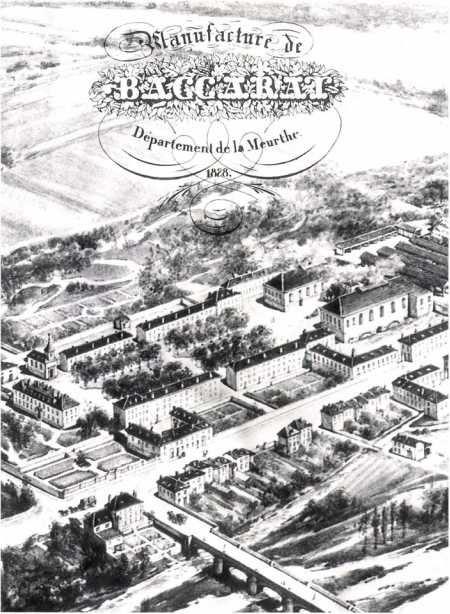 Aerial view of Cristalleries de Baccarat