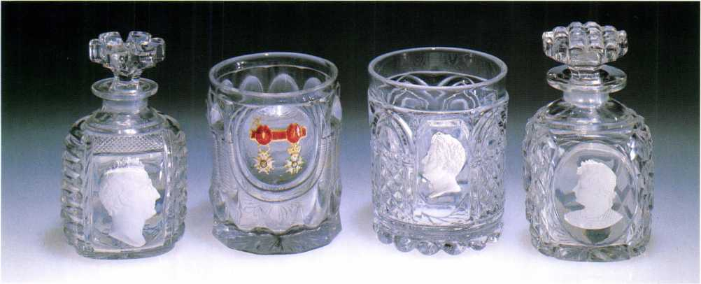 The Art of the Paperweight Lawrence H. Selman Antique sulphide bottles and tumblers