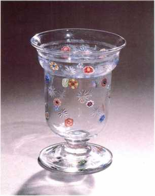 4.185 Baccarat glass with millefiori decoration