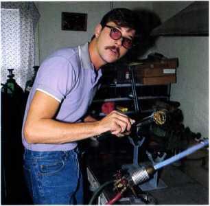 5.87 Randall Grubb at work
