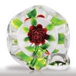 """Lot 6 Antique Baccarat """"thousand petal"""" rose faceted paperweight"""