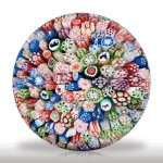 Lot 41 Antique Baccarat dated 1847 close packed millefiori miniature paperweight