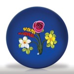 Lot 94 Johne Parsley bouquet with rose on cobalt ground paperweight