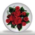 """Lot 151 Melissa Ayotte 2010 """"Festive Bouquet"""" limited edition paperweight"""