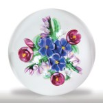 Lot 153 Randall Grubb 1989 violet bouquet paperweight