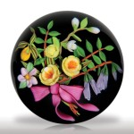 Lot 154 Mayauel Ward 1996 flower bouquet with pink bow paperweight