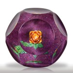 """Lot 199 Saint Louis 1991 """"La rose de Renoir"""" rose faceted paperweight, from the Impressionnistes Collection"""