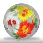 Lot 328 Chinese trio of primroses faceted paperweight