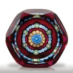 Perthshire Paperweights 1978 concentric millefiori faceted miniature paperweight