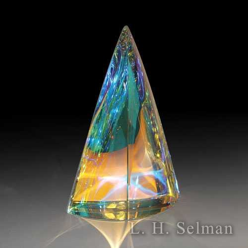 Denali Crystal 'Aurora' large dichroic & crystal sculpture by Denali Crystal