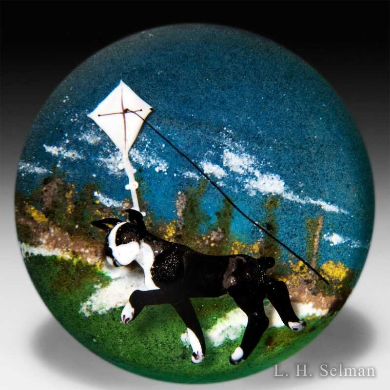 DOnofrio 2005 'Boston Bull Terrier & Kite' compound wt. by Jim D'Onofrio