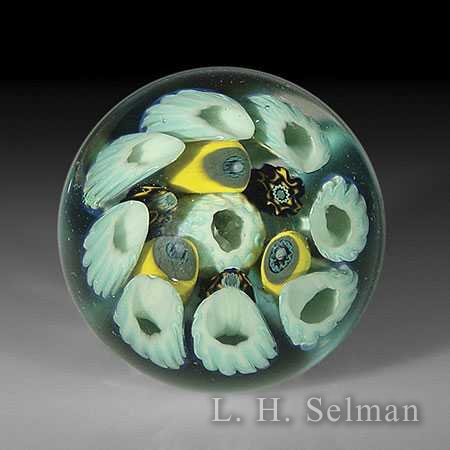 Ring of Fire 'Concentric Mill- efiori Implosion' small marble by Ring Of Fir Glassworks