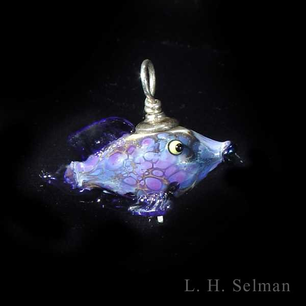 Wayne Robbins one-of-a-kind small frog or fish pendant by Wayne Robbins