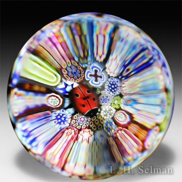 Saint Louis 2013 'Coccinelle' glass paperweight. by  Saint Louis