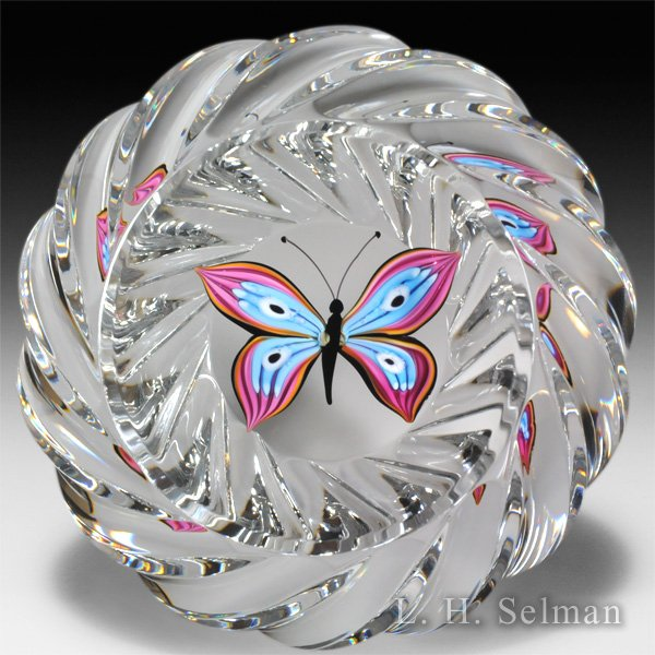 Saint Louis 2011 'Le Papillon' butterfly glass paperweight. by  Saint Louis