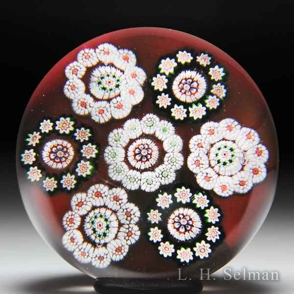 Antique Baccarat millefiori circlet glass paperweight. by  Baccarat Antique