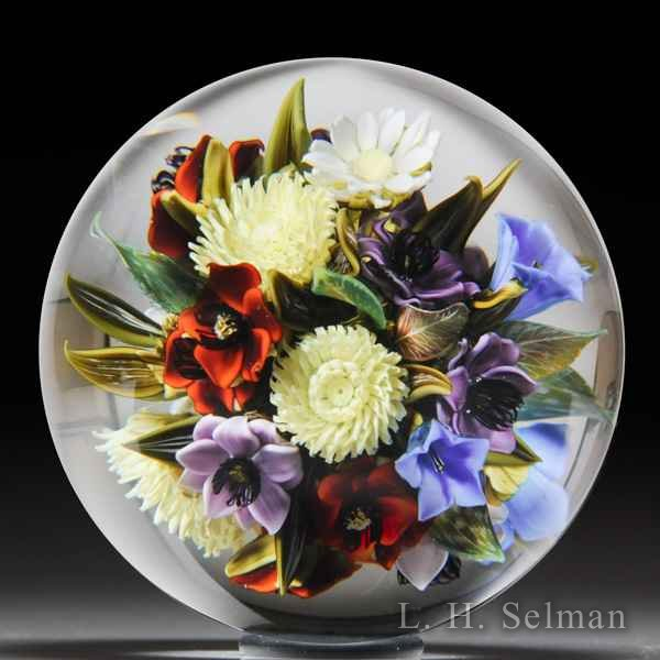 David Graeber 2016 chrysanthemum and blue bells bouquet orb. by David Graeber