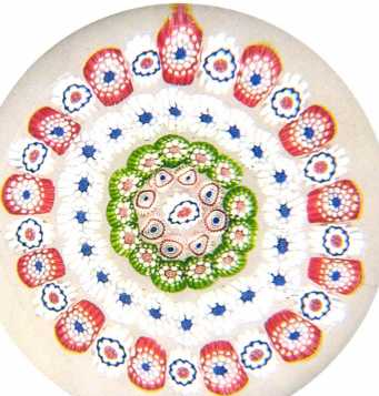 The Art of the Paperweight Lawrence H. Selman Antique Baccarat concentric millefiori