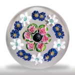 Lot 46 Antique Clichy spaced concentric millefiori miniature paperweight