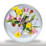Lot 95 Andrew Byers 2005 flowers and berries two-sided bouquet paperweight