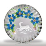 Lot 99 Debbie Tarsitano and Max Erlacher collaborative unicorn paperweight.