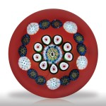 Lot 234 Drew Ebelhare 1997 spaced concentric millefiori miniature paperweight