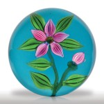 Lot 241 Joe Barker pink clematis paperweight