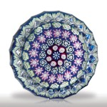 Perthshire Paperweights (1985-1997) concentric millefiori fluted miniature paperweight