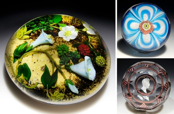 Rare fine-art paperweights to be auctioned here