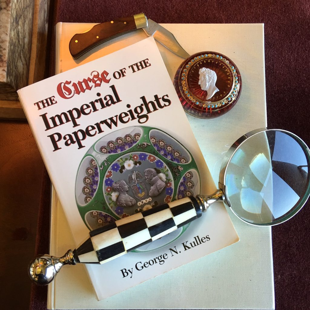 The Curse of the Imperial Paperweights   Glass Paperweight