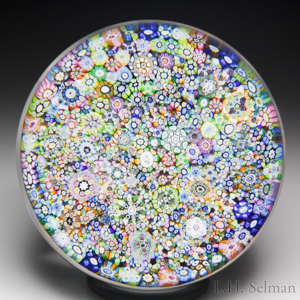 Perthshire Paperweight 1986 Close Packed Millefiori Paperweight