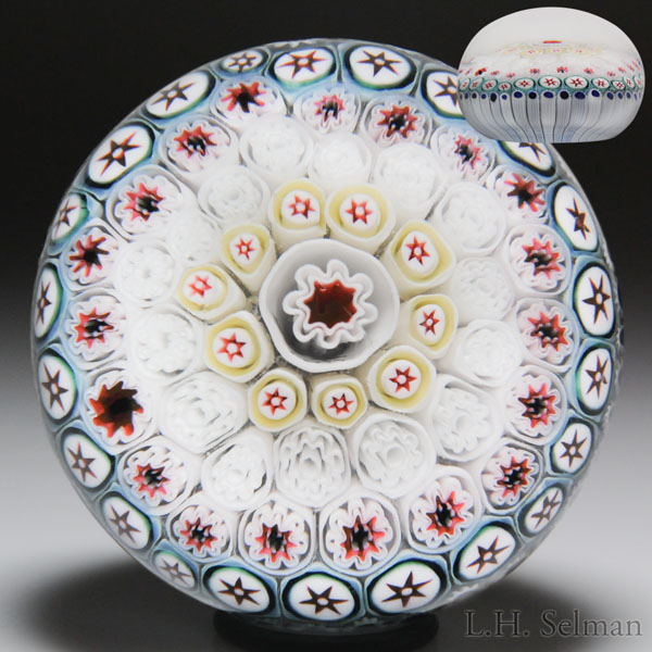 Antique Bacchus close concentric millefiori paperweight.