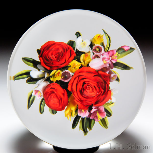 Melissa Ayotte 2008 red rose bouquet paperweight.