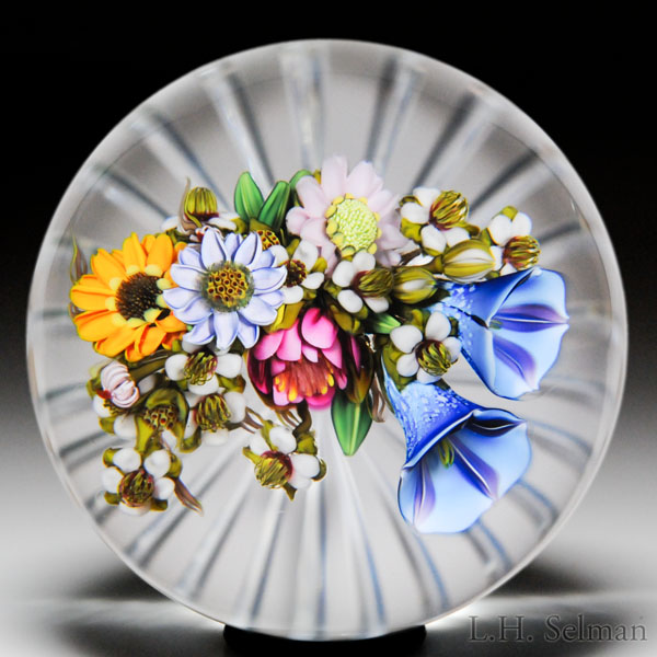 Ken Rosenfeld 2015 arching bouquet paperweight.