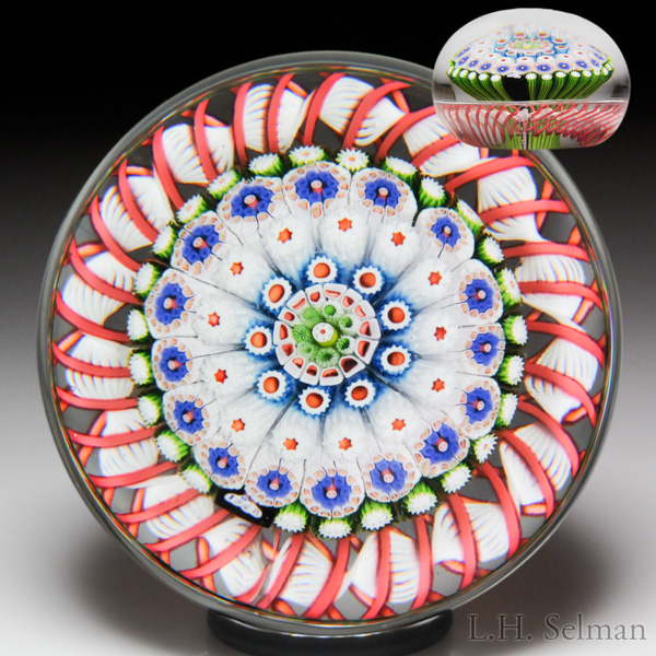 Antique Saint Louis 1848 close concentric millefiori mushroom and torsade paperweight. Est. $10,000-15,000.