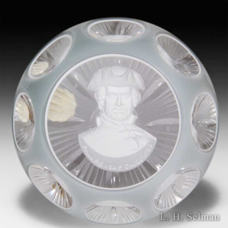 DAlbret Paul Revere sulphide in gray double overlay/facets by  D'Albret