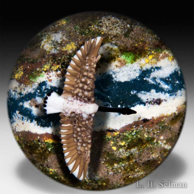 Jim D'Onofrio 2005 'Canada Goose' compound paperweight. by Jim D'Onofrio