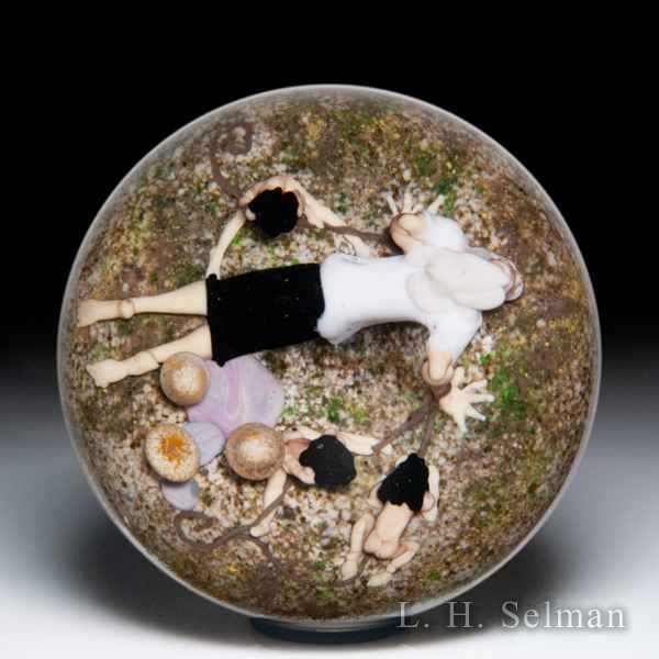 Jim D'Onofrio 2006 'Bad Dream' man and little people paperweight. by Jim D'Onofrio