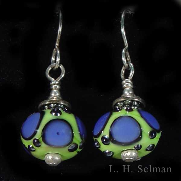 Wayne Robbins one-of-a-kind glass bead earrings; assorted by Wayne Robbins