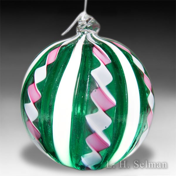 Virginia Wilson large glass Christmas tree ornament. by Virginia Wilson