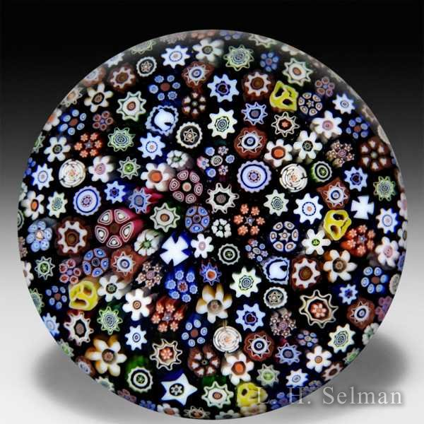 Parabelle Glass close packed millefiori glass paperweight. by  Parabelle Glass