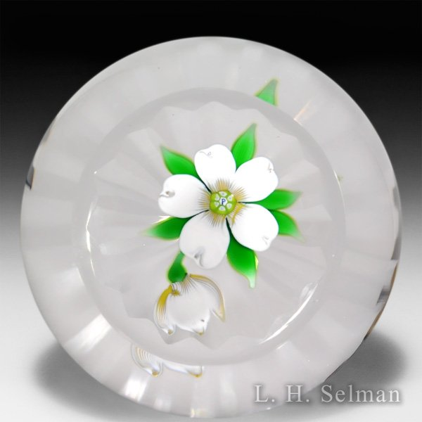 Perthshire Paperweights 1975 Christmas rose glass paperweight. by  Perthshire Paperweights