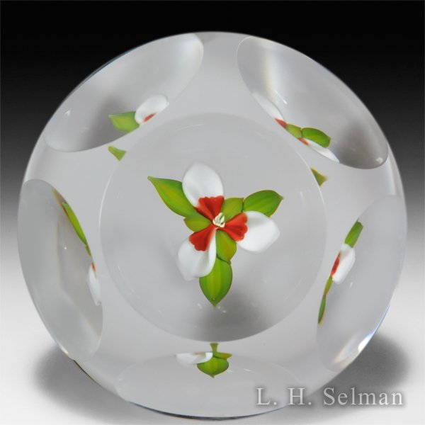 Paul Stankard 1978 trillium faceted paperweight. by Paul Stankard