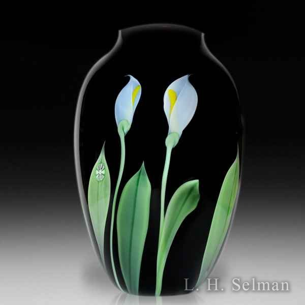 Orient & Flume 1983 deep amethyst calla lily large vase, by Scott Beyers. by Orient & Flume