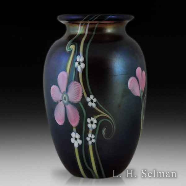Orient & Flume fantasy flowers amethyst vase. by  Orient & Flume